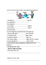 English worksheet: Superlatives
