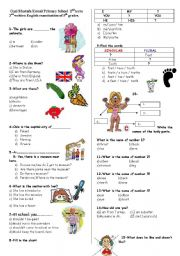 English Worksheets: test for beginners