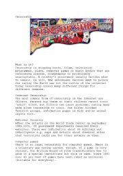 English Worksheets: censorship
