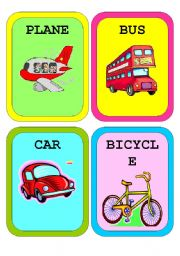 English Worksheet: Means of Transport - Flashcards