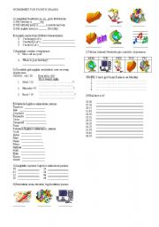 English Worksheets: for fourth grade