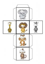 English Worksheets: Wild animals dice