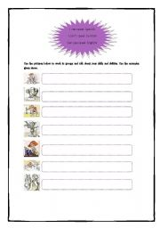 English worksheet: Skills and Abilities
