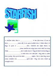 English Worksheets: Starfish Closure