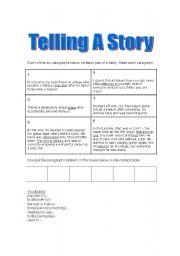 English Worksheets: Sequencing worksheet