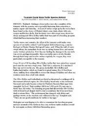 English Worksheet: Tsunami victims