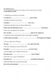 English Worksheets: PET TRANSFORMATIONS