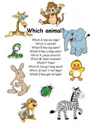 English Worksheets: Which animal ....  ?