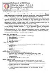 English Worksheet: Mass Media V1 (Author-Bouabdellah)
