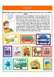 English Worksheet: Transport