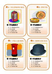 English Worksheet: BRITAIN GO FISH CARD GAME - set 2 - symbols