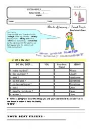 English Worksheets: How often do you help at home?