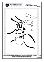English Worksheets: Letter A - Ant