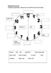 Clock face - ESL worksheet by Aomaom