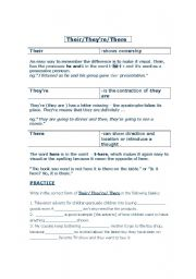 english worksheet there their and they re. Black Bedroom Furniture Sets. Home Design Ideas