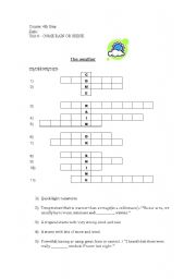 English Worksheet: Crossword The Weather