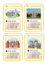 English Worksheets: BRITAIN - GO FISH CARD GAME - part 7 - palaces