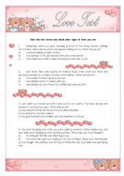 English Worksheet: Personality test