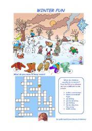 English Worksheets: WINTER FUN