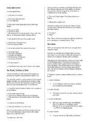 English Worksheet: punctuation and capitalization