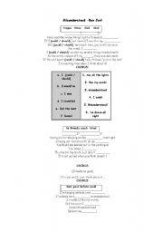 English Worksheet: Song - Misunderstood - Bon Jovi - MODALS