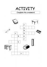 English Worksheets: make a crosswords