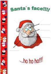 English Worksheets: Santa`s face!!