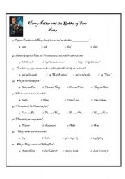 image regarding Harry Potter Activities Printable identify Harry Potter and the Goblet of Fireplace Workbook-Section 3 of 3