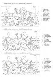 English Worksheets: Colour the numbers