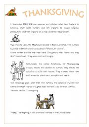 thanksgiving history esl worksheet by silvas. Black Bedroom Furniture Sets. Home Design Ideas