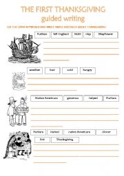 the first thanksgiving guided writing esl worksheet by silvas. Black Bedroom Furniture Sets. Home Design Ideas