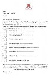 English worksheets detention