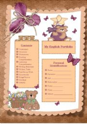 English Worksheet: English Portfolio frontpage (UPDATED)