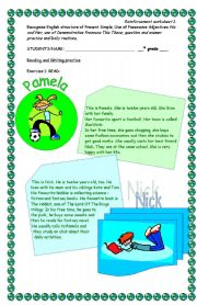 English Worksheets: Reading comprehension (3pgs)