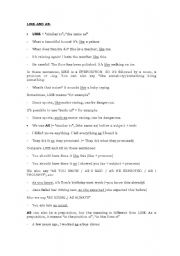 English Worksheets: Like and as