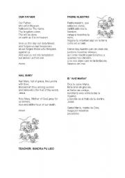 English worksheet: our father