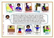 English Worksheet: Miriam�s daily routine