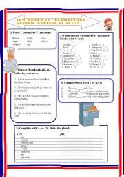 English Worksheet: New Headway - Elementary - part 04