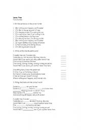 English Worksheet: Song - Lemon Tree