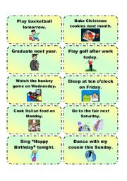 English Worksheet: GOING TO practice cards 2/3