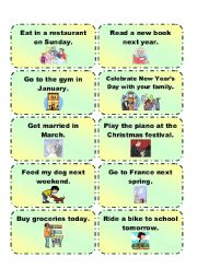 English Worksheet: GOING TO practice cards 3/3
