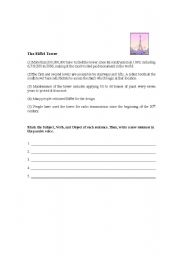 English Worksheets: Passive Voice Sentence Construction