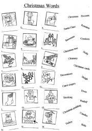 Christmas words esl worksheet by yetigumboots christmas words ibookread Read Online