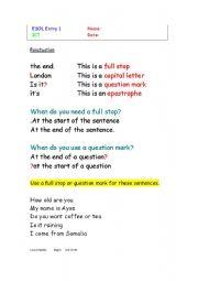 Basic punctuation