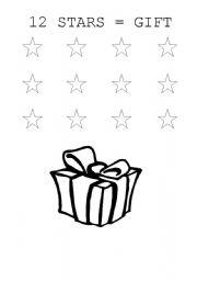 English Worksheets: 12 Stars = Gift