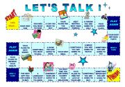 English Worksheets: Let�s talk - Board Game