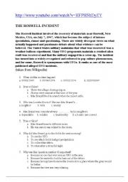 English Worksheets: The Roswell Incident
