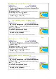 English Worksheets: weekend
