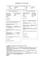 English Worksheet: Test commercial letters