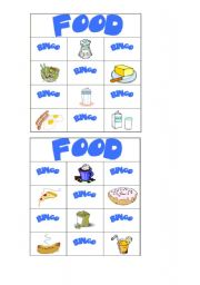 English Worksheet: food bingo part 8/8